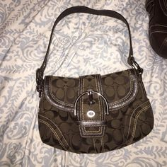 Authentic coach bag Brown bag with buckle front! Coach Bags Shoulder Bags