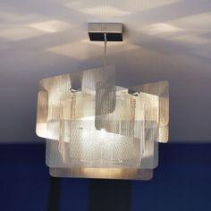 Lámpara de techo moderna de metal Suspension Cube Grande 28B Thierry Vidé Design
