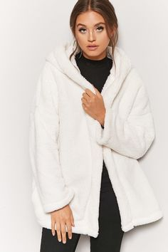 Product Name:Hooded Faux Fur Open-Front Coat, Category:outerwear_coats-and-jackets, Price:29.9