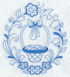 Machine Embroidery Designs at Embroidery Library! -Easter basket Circle