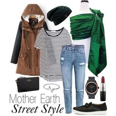 Mother Earth: Street Style by myheartcreative on Polyvore featuring Zara, H&M, Thakoon Addition, Kate Spade, Nixon, Jewel Exclusive and MAC Cosmetics