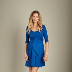 MA royal front tie mini dress available at Baby Bump Maternity 504.304.2737 call us and we'll ship :)