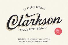 Clarkson Script by adamfathony on Envato Elements