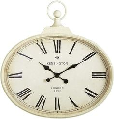 Pier One Antiqued Ivory Wall Clock