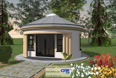 Total living space square meters) Total house area square meters) Overall dimensions x Round House Plans, Garage House Plans, Dream House Plans, Small House Plans, House Floor Plans, Hut House, Dome House, Cabana, Bungalow Haus Design
