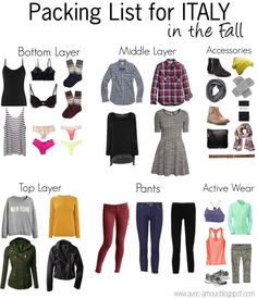 Packing for Italy in the Fall in a Carry on// Packing list for Europe in a carry on