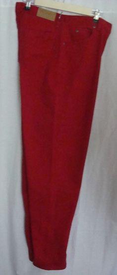 LIZ CLAIBORNE LizWear Womens' Jeans Size 14 Red 100% Cotton #LizClaiborne #ClassicFit