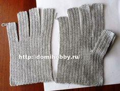 Achei esse pap em um site Russo ( Link do blog aqui ) e achei essa maneira muito criativa e simples de tecer uma luva em crochê, você va...