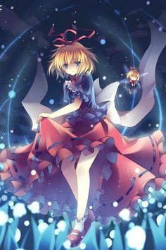 Touhou Project Phantasmagoria of Flower View Medicine Melancholy Black and Red Dress Cosplay Outfits Costumes