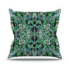 """KESS InHouse Grun by Danii Pollehn Abstract Throw Pillow Size: 26'' H x 26'' W x 1"""" D"""