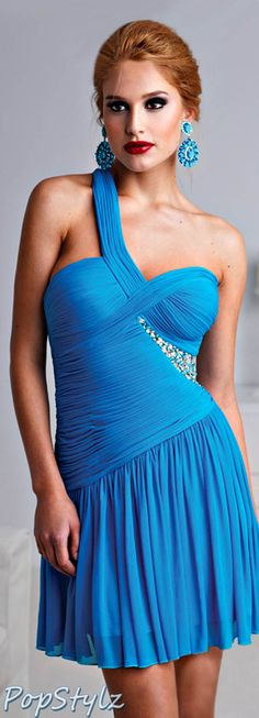 Terani Couture Turquoise Dress