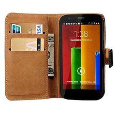 Genuine Leather Wallet Ontwerp van de standaard behuizing voor Motorola Moto G - EUR € 7.67