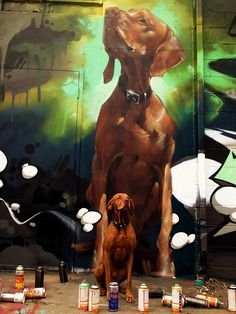whipped up a quick painting of bacon's dog tesla by silent-jay, via Flickr
