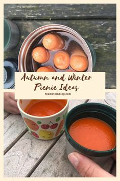 Food ideas for picnics to keep you cozy #autumn #winter #autumnfood #winterfood #picnicfood