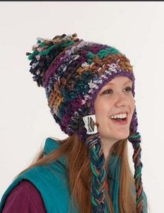 Aspen warm wooly knitted hat FREE pattern download from Schacenmayer