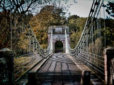 Union Chain Bridge is a suspended-deck suspension bridge that spans the River Tweed between Horncliffe, Northumberland, England and Fishwick, Borders, Scotland. When it opened in 1820 it was the longest wrought iron suspension bridge in the world with a span of 137 metres and the first vehicular bridge of its type in Britain.