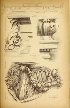 Materials and documents of architecture and sculpture : classified alphabetically Cathedral Architecture, Classical Architecture, Historical Architecture, Amazing Architecture, Art And Architecture, Architecture Details, Architecture Blueprints, Gothic Pattern, Ornament Drawing