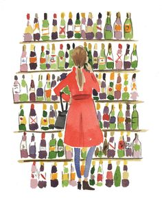 A CUP OF JO: A trick for choosing wine (Illustration by Caitlin McGauley)