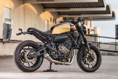 Fresh out the Macco Motors workshop in Spanish port city of Málaga—a beautifully revamped Yamaha XSR700.