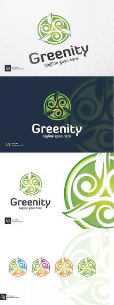 Greenity / Leaf - Logo Template AI, EPS