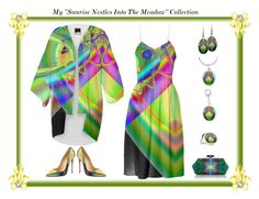 "My New ""Sunrise Nestles Into The Meadow"" Collection by artist4god-rose-santuci-sofranko on Polyvore featuring Christian Louboutin and Judith Leiber....My New ""Sunrise Nestles Into The Meadow"" Collection ... #kimonos #SummerDresses #jewelry #rings #charms #necklaces #earrings #Cafepress #PAOM #printalloverme #RoseSantuciSofranko #Artist4God @Cafepress (see: www.Artist4God.net for more info. on my products)"