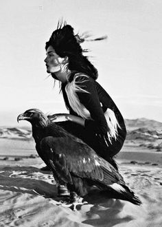 witch and eagle… pagan priestess from romania…