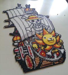 One Piece - Thousand Sunny perler beads by staubtaenzerin on deviantART