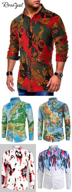 Long Sleeve Shirts For Men Cheap Sale Online Mens Hottest Fashion, Mens Fashion Wear, Fashion Outfits, Men's Fashion, Mens Dress Hats, Men Dress, Cool Shirts For Men, African Clothing For Men, Sharp Dressed Man