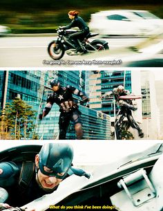 """#aou Poor Cap - he makes all the battle plans and then gets stuck """"keeping them occupied."""" @gesmith116"""
