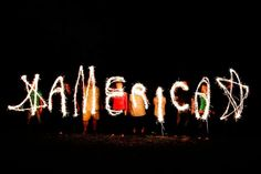 America in sparklers