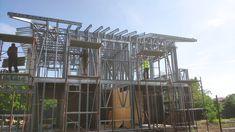 Casa pe structura metalica House Ideas, Construction, Houses, Building