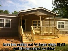 Porch Designs for Mobile Homes   Pinterest   Porch designs, Front ...