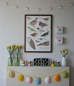 Easter Mantels and Rabbit Garlands