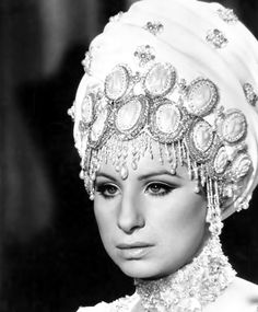 """Barbra Streisand in """"On a Clear Day You Can See Forever"""", 1970. Photo and costume both by Cecil Beaton."""