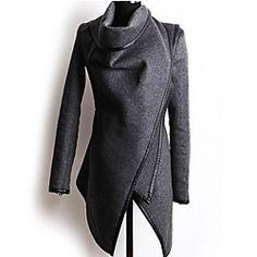 Women's Fashion Loose Irregular Outerwear | LightInTheBox
