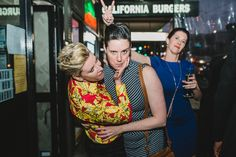 Photos of guests talking. Melbourne Wedding, Vera Bradley Backpack, Windsor, Sari, Gardens, Victoria, Photos, Photography, Fashion