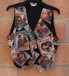 CLEARANCE Vintage vest // love vest // by mylittleclosett on Etsy