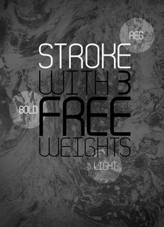 Font Inspirations: Stroke [Free Download]