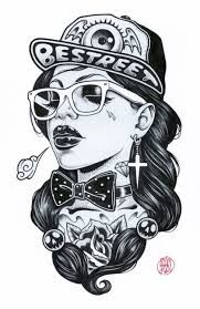 Hip Hop Girl by Adam Isaac Jackson. Hip Hop Tattoo, Graffiti Art, Arte Dope, Dope Art, Rap Tumblr, Adam Isaac Jackson, Fille Hip Hop, Dope Kunst, Illustrations