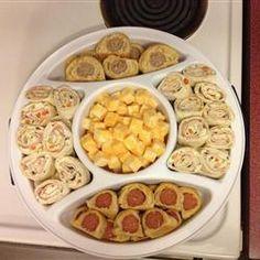 Tortilla Ham Pinwheels Allrecipes.com