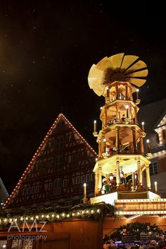 Christmas Market, Esslingen, Baden-Württemberg, Germany. The whole place smells of cinnamon and gluwein. It's the most magical medieval market with pigs roasting on spits and stall holders clad in velvet britches!