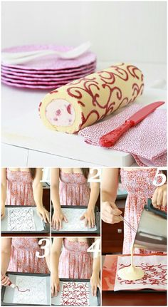 Patterned Swiss Roll Cake
