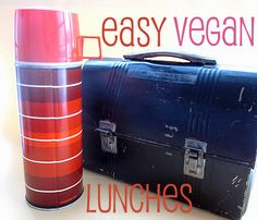 Easy vegan lunches - more simple ideas.  I really should get a thermos so I don't have to microwave my soup!