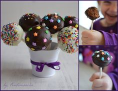 Домашние шоколадные пирожные на палочке или chocolate cake-pops.
