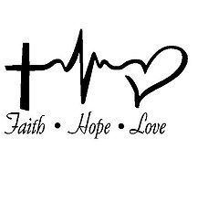 FAITH HOPE LOVE VINYL STICKER