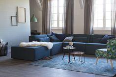 KARWEI | Wees niet bang om diverse blauw- en groentinten met elkaar te combineren. #woonwekenbijkarwei