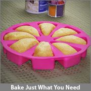 ThinkGeek :: Just a Slice Silicone Cake Pan