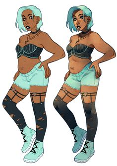 whelp. looks like she's a pastel goth now. //still uncertain about what color…