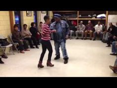 Magic stops by Swan's Chicago steppers Class - YouTube