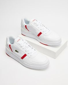 Lacoste T-Clip Casual Sneakers, Lacoste, Shoes, Fashion, Casual Trainers, Moda, Zapatos, Shoes Outlet, Fashion Styles